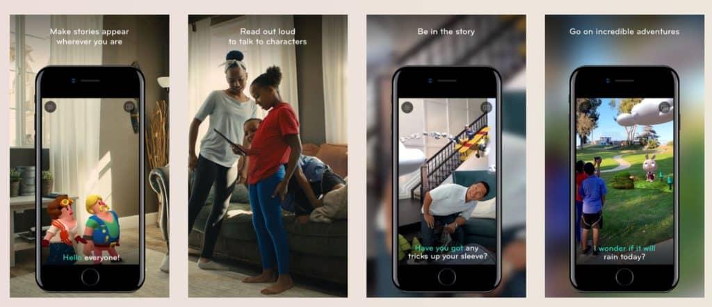 Wonderscope App for Storytelling in AR