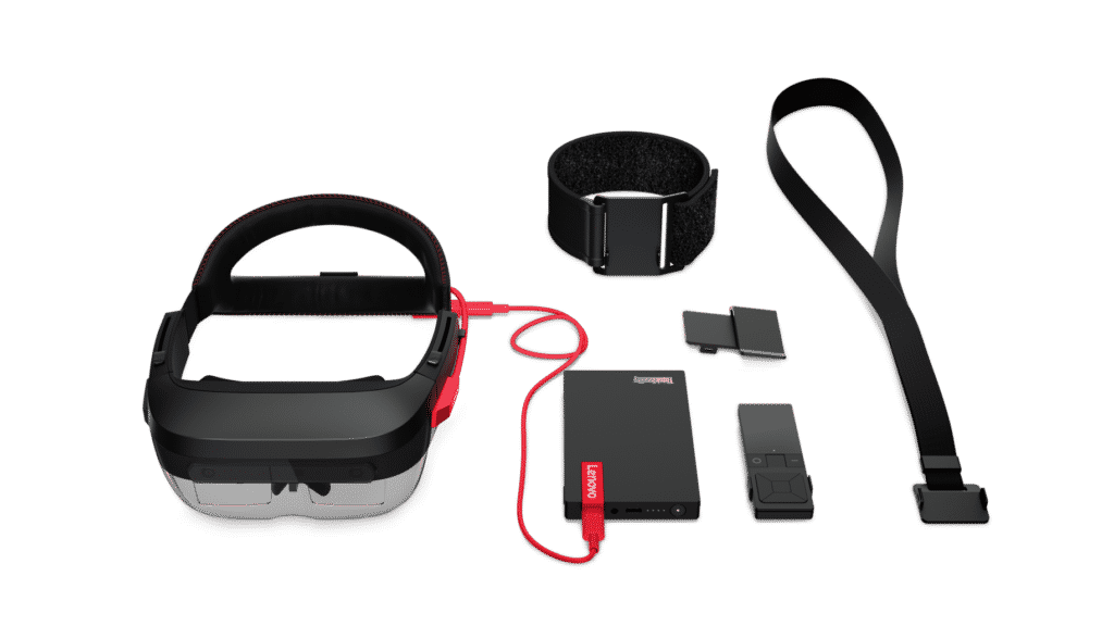 The components for the Lenovo AR headset