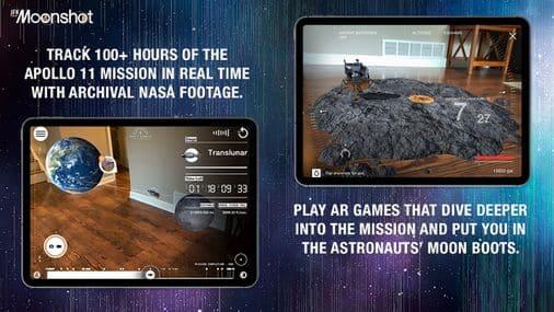 AR moonshot app