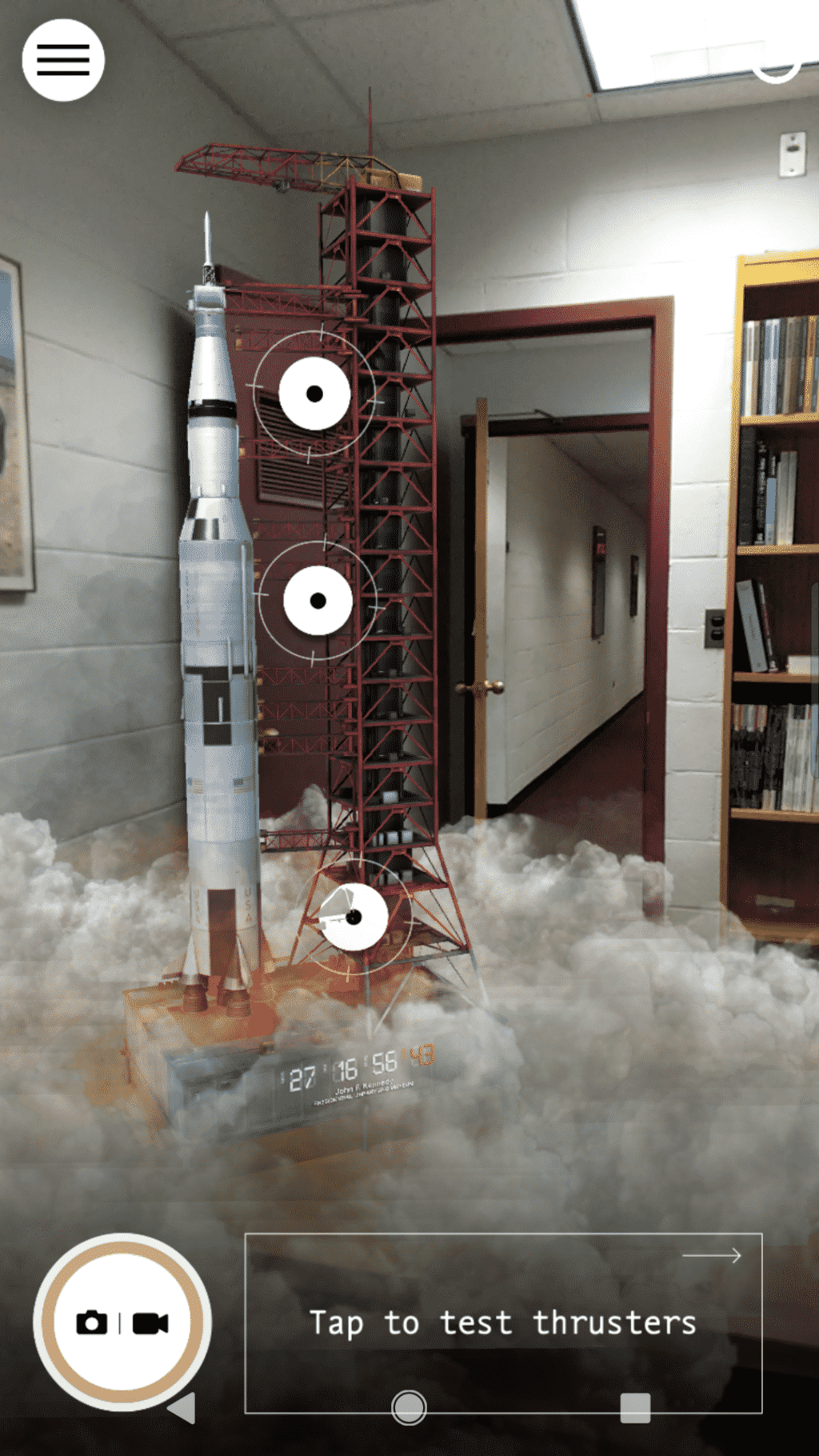 Screenshot from AR Moon Rocket