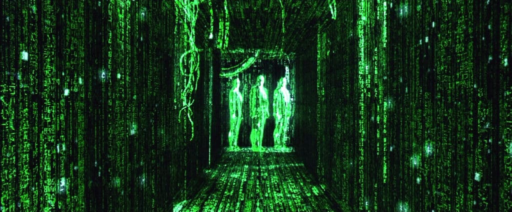 Image from The Matrix - visualizing code in VR