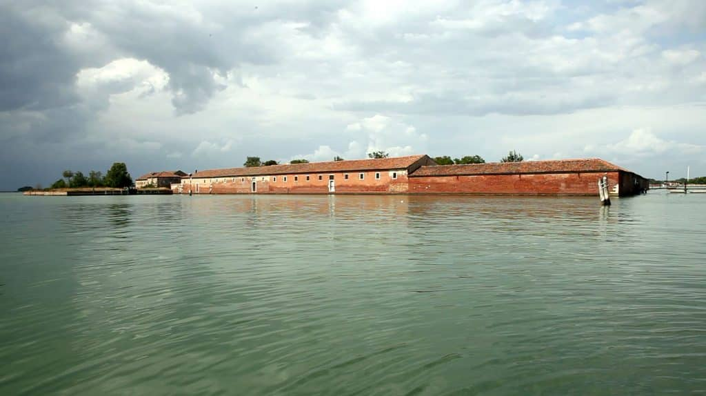 """The """"VR Island"""" Lazzaretto Vecchio, next to Lido."""