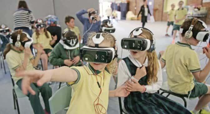 K-12 School Children using Virtual Reality.