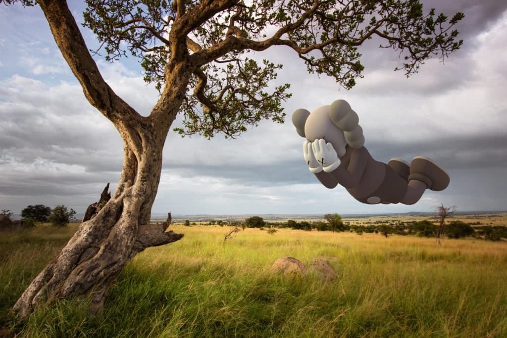 AR Art everywhere - even on the Serengeti plains