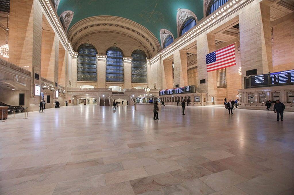 A nearly empty Grand Central Terminal in New York City during the Coronavirus pandemic.