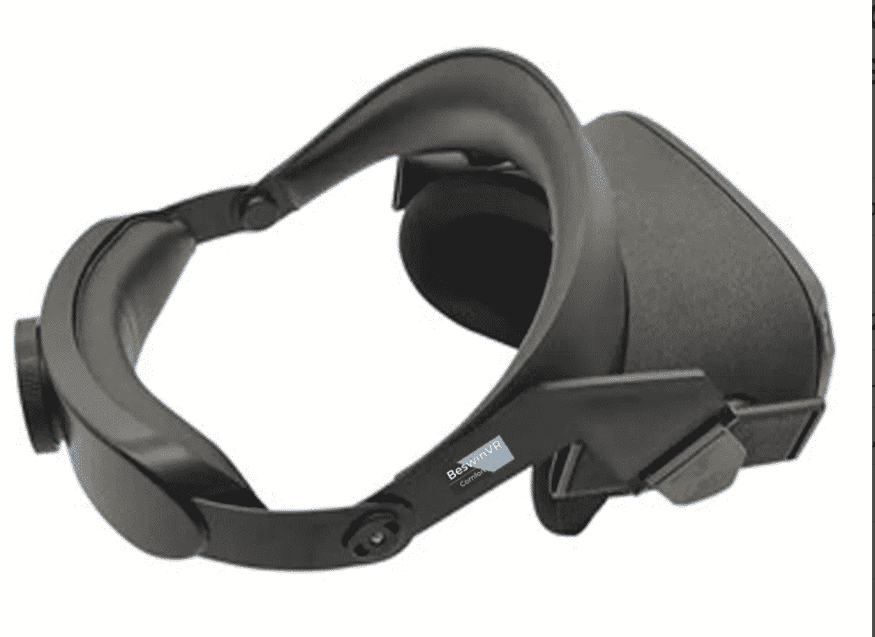 One example that might be a model for the new Oculus Quest VR headset - the Beswin Comfort Strap.