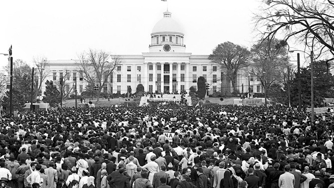 The crowd at the state capitol in Montgomery on March 25, 1965.