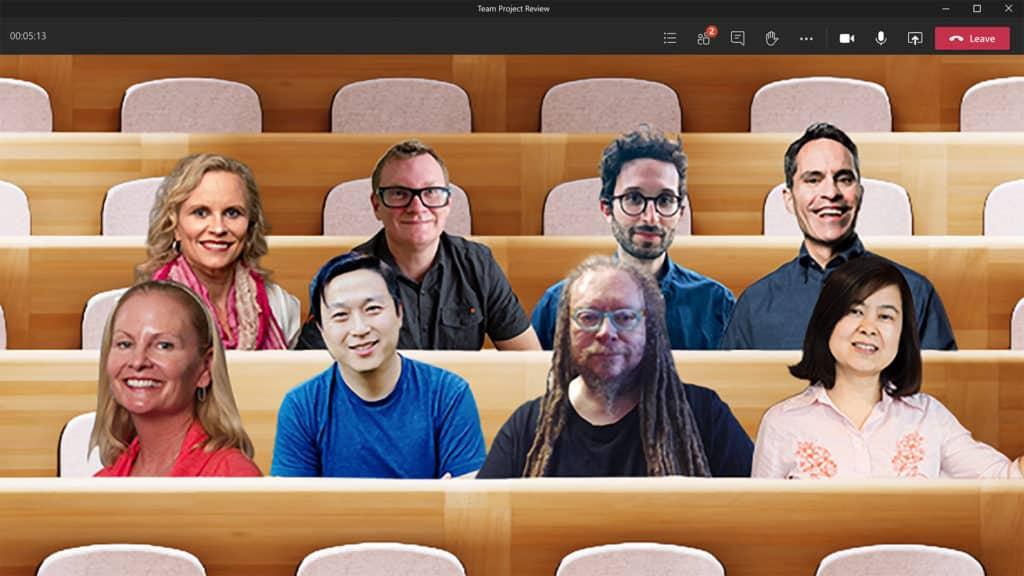 Microsoft's new virtual auditorium for Teams