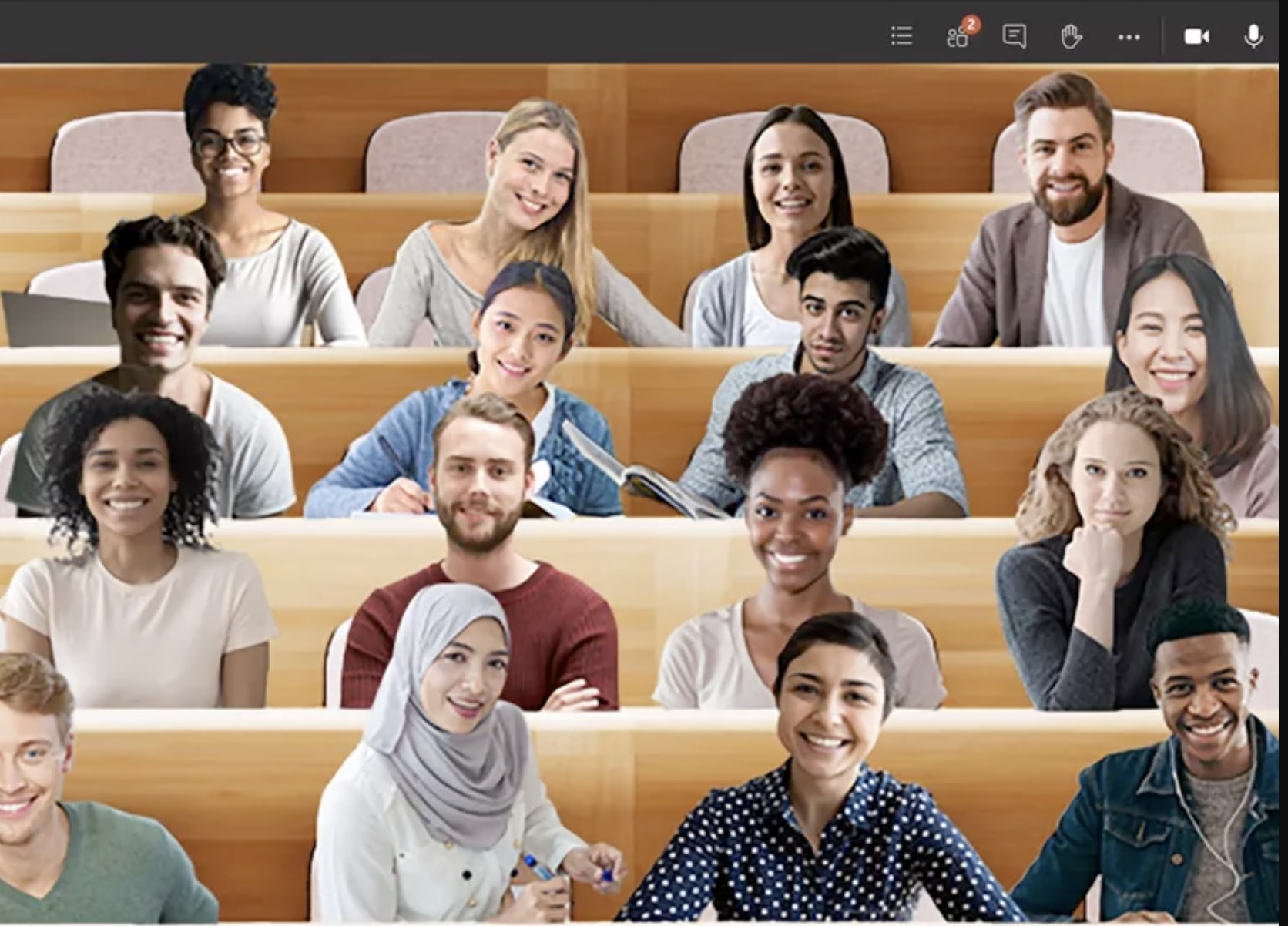 Microsoft's virtual auditorium style classroom in Teams