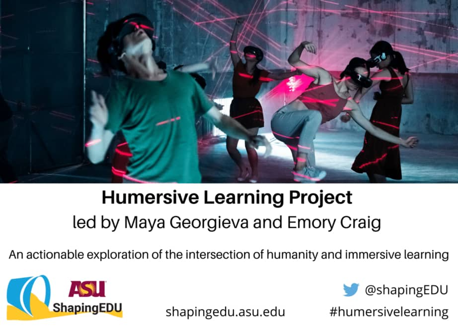 Join us for the Humersive Learning Project at ASU's Learning (Hu)Man Conference.