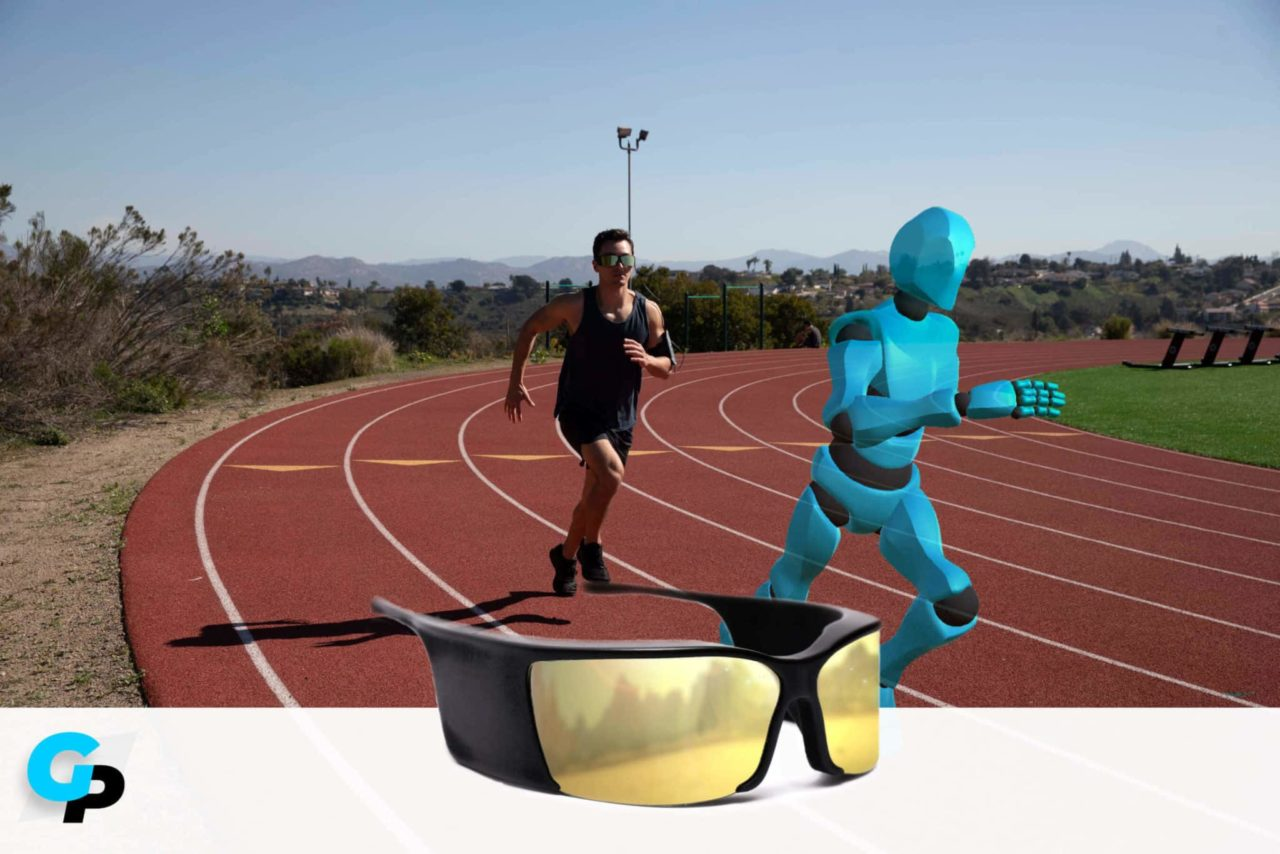 AR running app and augmented reality glasses by Ghost Pacer