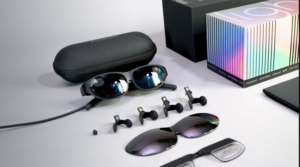 All the components in the Nreal Light AR Glasses.