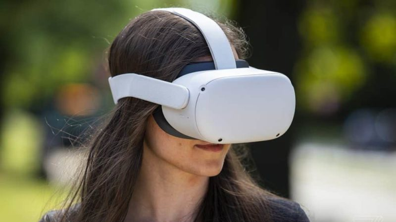 The latest Virtual Reality Headset from Facebook, the Oculus Quest 2 is smaller, lighter, and incorporates a better display.