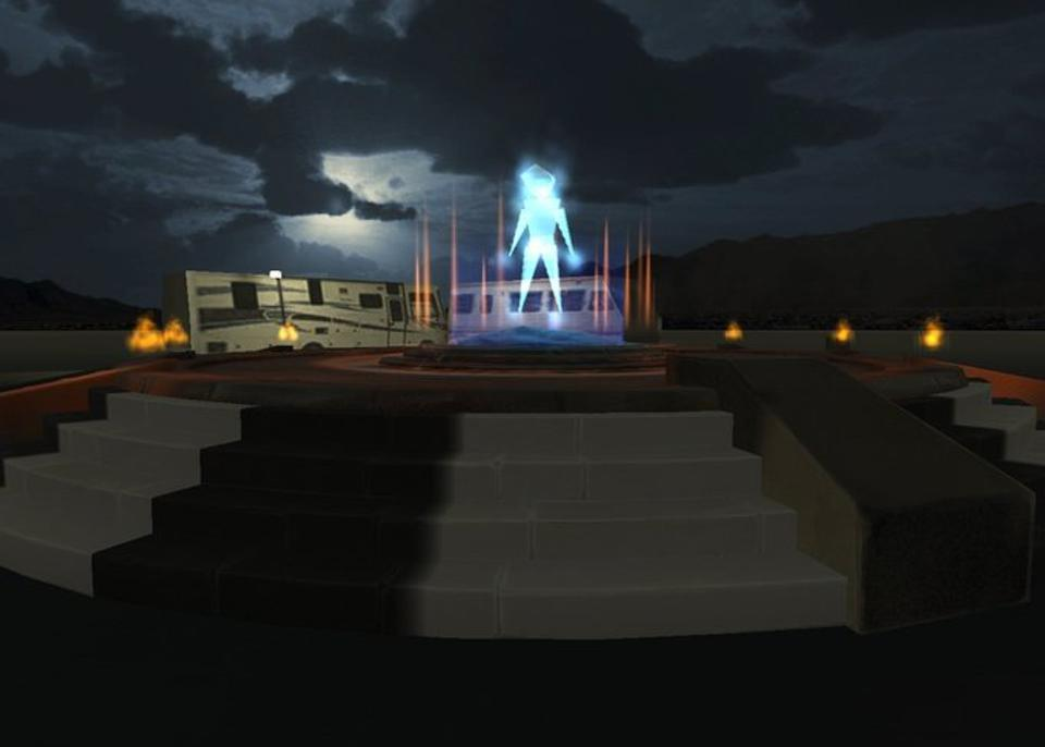 The Burning Man Halloween celebration this weekend at Black Rock City in virtual reality.