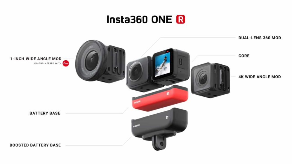 Insta360 One R modular action camera on sale for Black Friday.