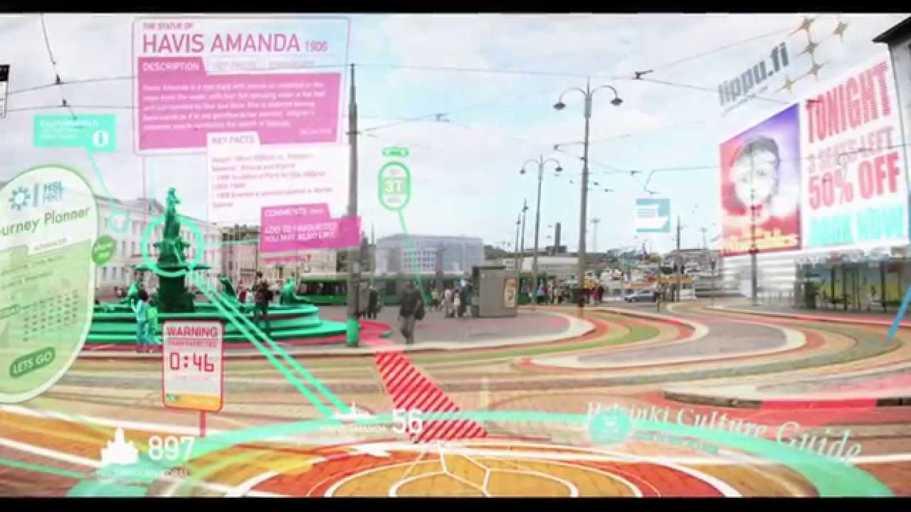 augmented reality in the future will include political information and possibly extend polarization.