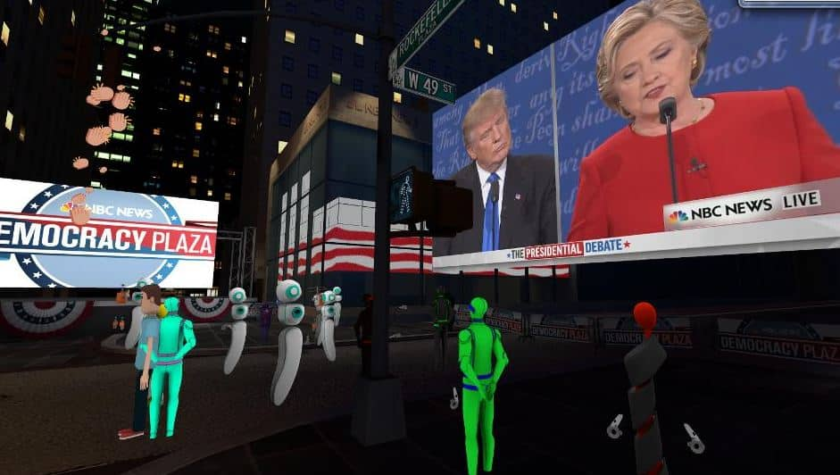 Technology and Politics - watching the 2016 debates in VR.