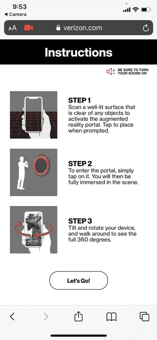 Thanksgiving Day 360 video portal instructions