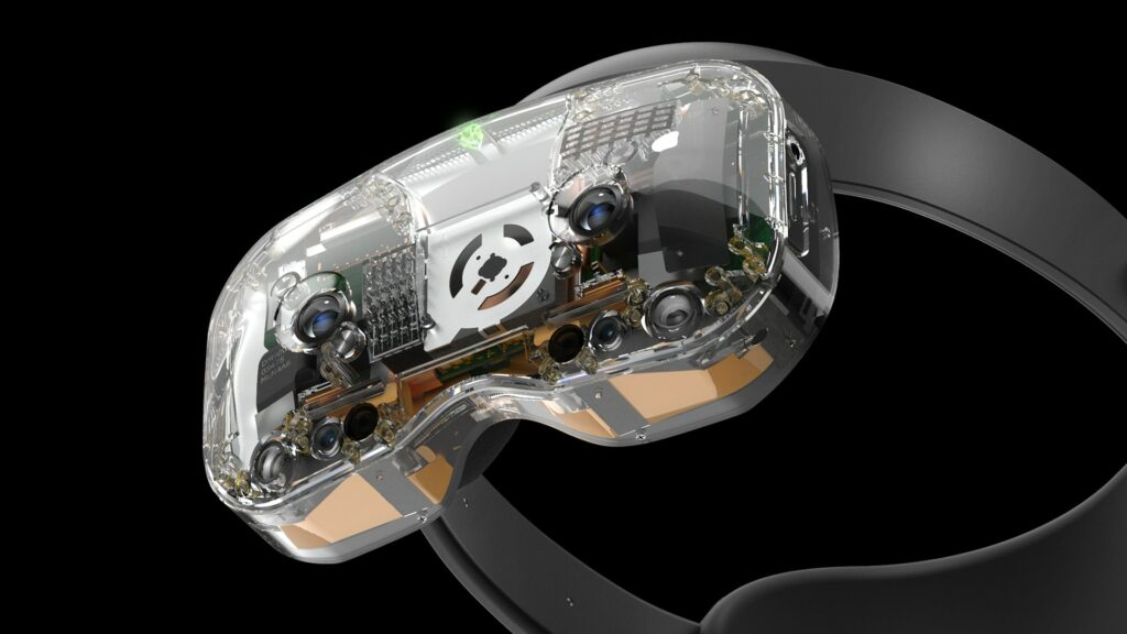 The Lynx headset with the optional transparent front face.