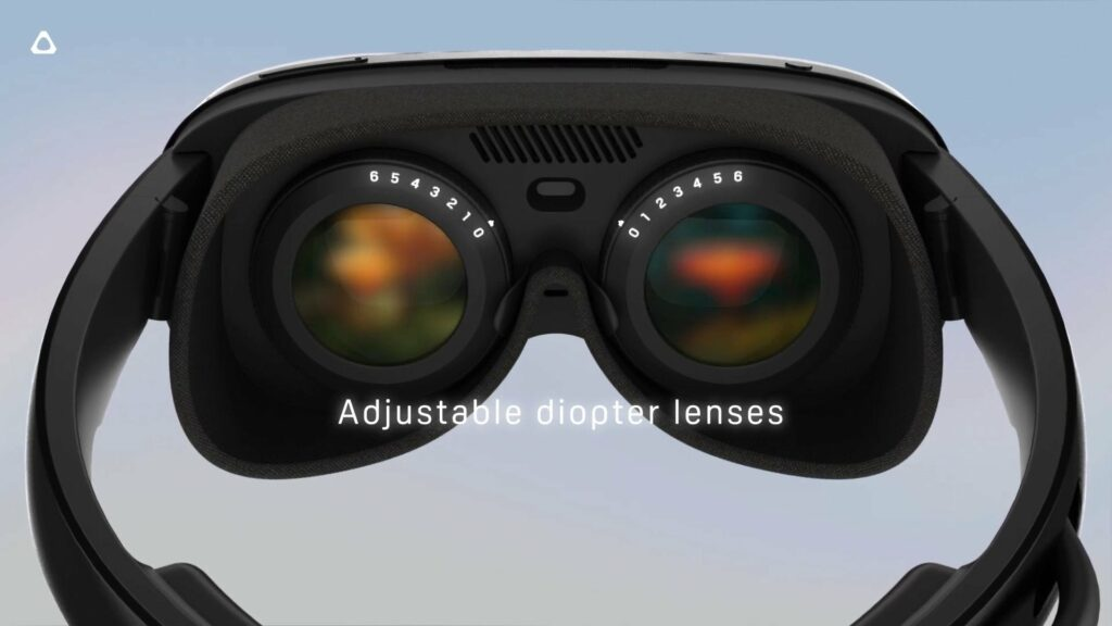 Adjustable diopter lenses on the Vive Flow