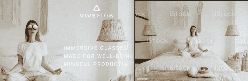 One of HTC's photoshopped images for the Vive Flow promotional campaign.